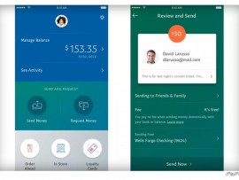 Paypal's new designed mobile app for send money or pay online easily