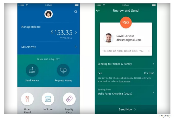 PayPal's-new-designed-mobile-app-for-money-tranfer-easily