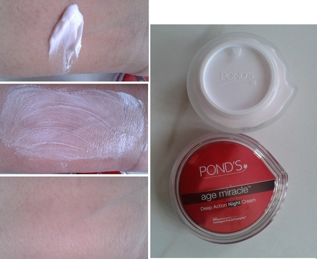 Ponds-Age-Miracle-Deep-Action-Night-Cream-color and effect