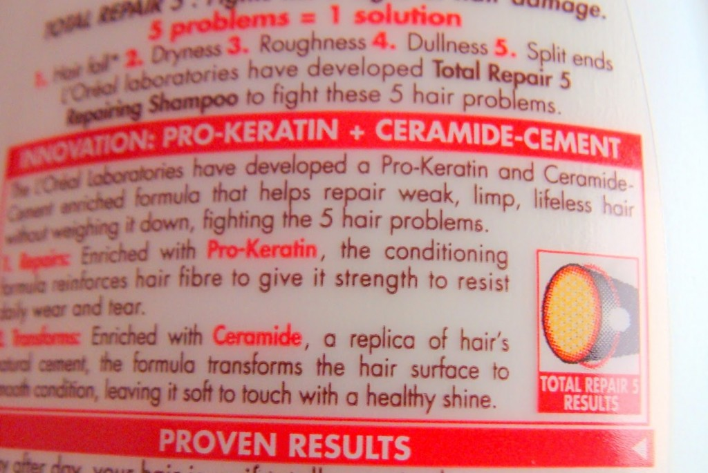 LOreal-Total-Repair-5-Shampoo-ingredients