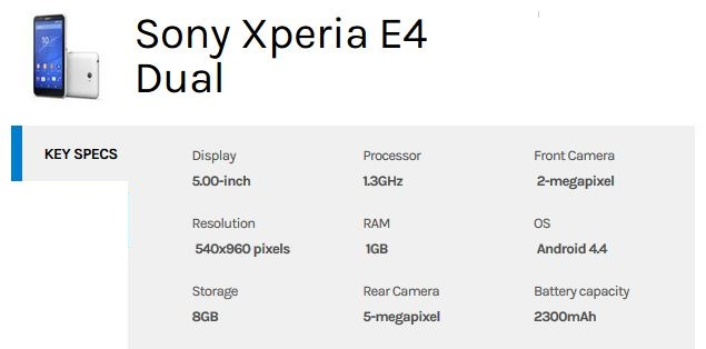 sony-xperia-e4-dual-specification