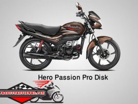 Hero Passion Pro Disk Motorcycle Price in Bangladesh & Specification