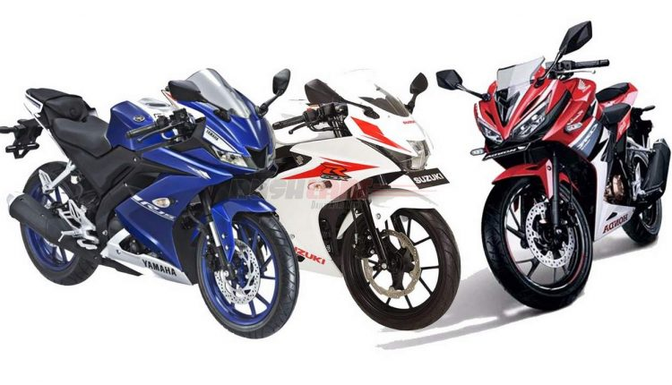 New yamaha r15 v3 vs suzuki gsx150r vs honda cbr150r who for Yamaha r15 v3 price philippines